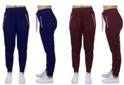Loose Fit Fleece Joggers with Zipper Pockets, Pack of 2