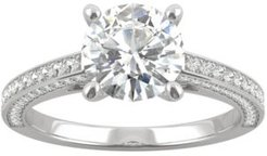 Moissanite Engagement Ring (2-1/10 ct. t.w. Dew) in 14k White Gold