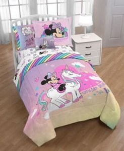 Minnie Bowtique 'Unicorn Dreams' 8pc Full bed in a bag Bedding