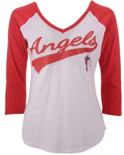 G-iii Sports Women's Los Angeles Angels Its A Game Raglan T-Shirt