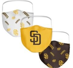 San Diego Padres 3-Pk. Face Mask