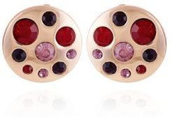 Fashionable Florals Button Clip on Earring