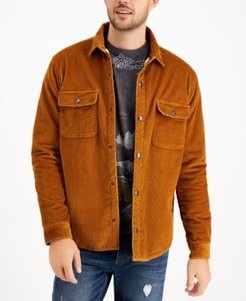 Badgely Cord Regular-Fit Fleece-Lined Corduroy Shirt Jacket, Created for Macy's