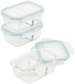 Purely Better 6-Pc. 25-Oz. Divided Food Storage Containers