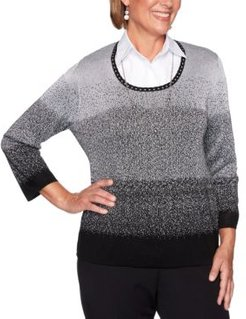 Petite Ombre Layered-Look Sweater