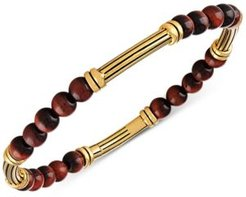 Onyx Bead Bracelet in 14k Gold-Plated Sterling Silver, Created for Macy's