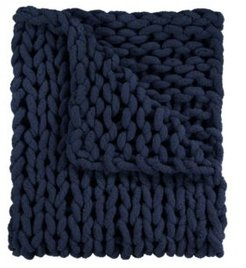 """Chenille Knitted Throw, 40"""" L X 50"""" W"""