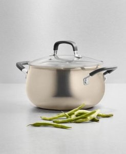 Champagne Aluminum 3-Qt. Nonstick Soup Pot with Lid, Created for Macy's