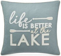 """Life Lake 20"""" Square Decorative Pillow, Created for Macy's"""