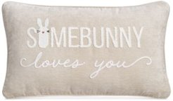 """14"""" x 24"""" Some Bunny Loves You Embroidered Decorative Pillow"""