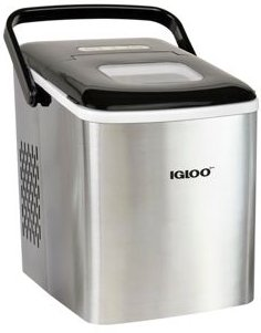 ICEB26HNSS 26-Pound Automatic Self-Cleaning Portable Countertop Ice Maker Machine With Handle, Stainless Steel