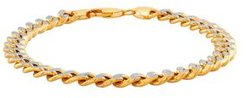 Polished Diamond Cut 7MM Curb Chain Bracelet in 10K Yellow Gold