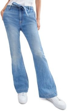 Tailorless Belted Bootcut Jeans