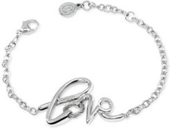 Love Cable Link Bracelet in Sterling Silver & Stainless Steel