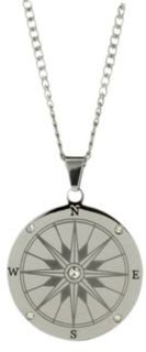 Stainless Steel Compass Necklace