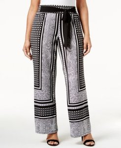 Inc Plus Size Tie-Waist Palazzo Pants, Created for Macy's