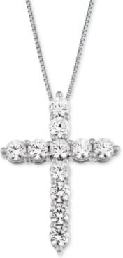 Cross Pendant Necklace (1 ct. t.w.) in 14k Gold or White Gold