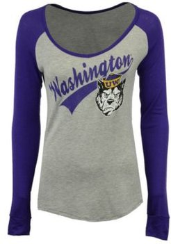 Washington Huskies Raglan Long Sleeve T-Shirt