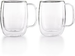 Zwilling J.a. Henckels Sorrento Double Wall Coffee Mugs, Set of 2