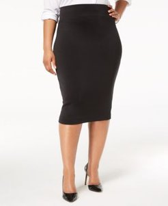 Plus Size Knit Pencil Skirt, Created for Macy's
