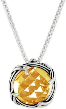 Citrine Adjustable Pendant Necklace (4 ct. t.w.) in Sterling Silver