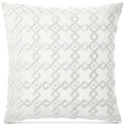 "Closeout! Hotel Collection Embroidered 22"" Square Decorative Pillow, Created for Macy's Bedding"