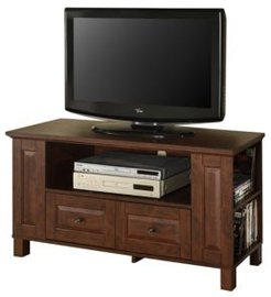 """44"""" Wood Tv Media Stand Storage Console - Brown"""