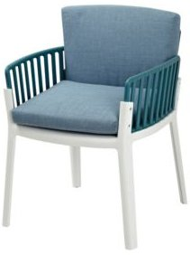 Sunny Two-Tone Chair With Removable Blue Cushions (Set Of 2)