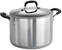 Style Polished 8 Qt Covered Stock Pot