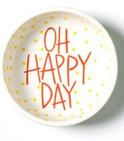 Mint Stripe Oh Happy Day Dipping Bowl