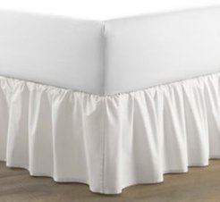 Twin Solid Ruffle White Bedskirt Bedding