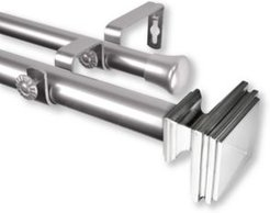 """Bedpost Double Curtain Rod 1"""" Od 120-170 inch"""