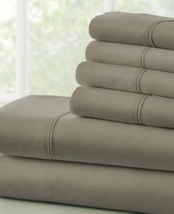 Solids in Style by The Home Collection 4 Piece Bed Sheet Set, Twin Bedding