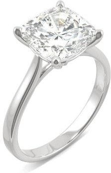 Moissanite Cushion Solitaire Ring (3-1/3 ct. tw.) in 14k White, Yellow or Rose Gold