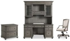 Sloane Home Office, 4-Pc. Set (Credenza, Hutch, Lateral File Cabinet & Upholstered Desk Chair)