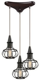 Yardley Collection 3 light pendant in Oil Rubbed Bronze