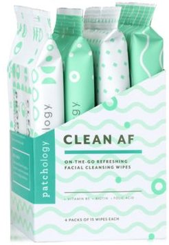 Clean Af On-The-Go Refreshing Facial Cleansing Wipes, 4-Pk.
