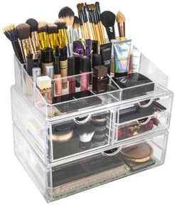 Cosmetics Makeup and Jewelry Storage Case Display Sets - Style 1