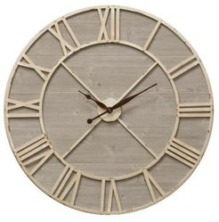 Antique Ivory and Driftwood Clock