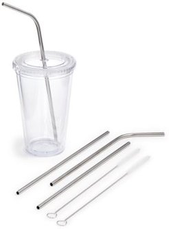 6-Pc. Reusable Metal Straw & Brush Set, Created for Macy's