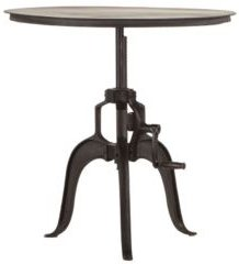 """Artezia Adjustable Crank Iron Side Table with Matte Finish - 30"""" x 30"""" x 30"""""""