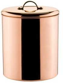 International Polished Copper Canister with Brass Knob, 4 -Quart