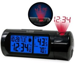 Atomic Projection Alarm clock with Indoor and Outdoor Temperature