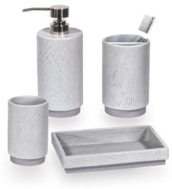 Grey Wood 4-Pc. Bath Accessory Set Bedding