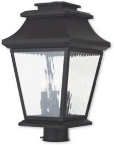 Closeout! Livex Hathaway 3-Light Outdoor Post Lantern