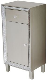 Heather Ann Avery Mirrored Accent Cabinet with Drawer