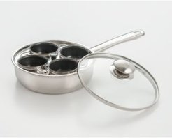 Cookpro 4 Cup Egg Stainless Steel Egg Poacher with Non-Stick Egg Cups