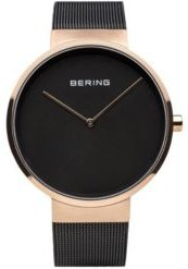 Classic Stainless Steel Case and Mesh Watch