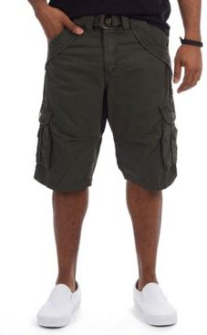 Belted Double Pocket Bermuda Cargo Shorts