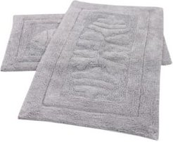 "Cipher 17"" x 24"" and 21"" x 34"" 2-Pc. Bath Rug Set Bedding"